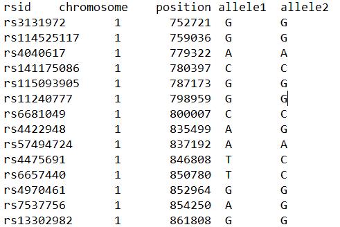 AncestryDNA raw data