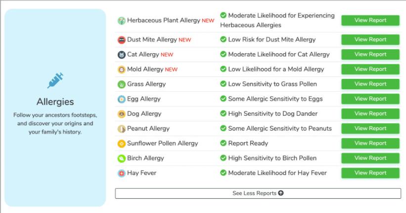 Cri Genetics allergy testing