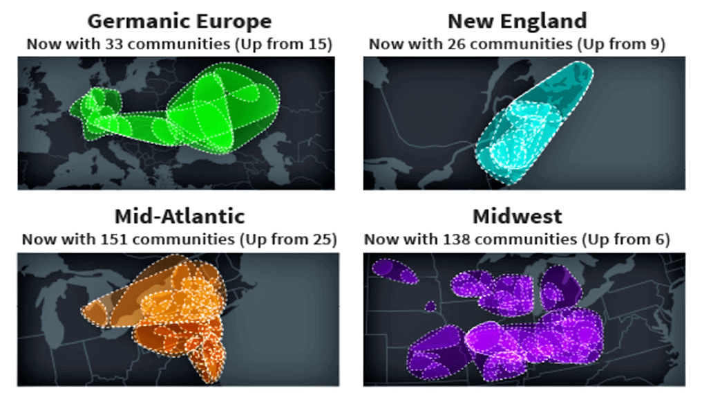 Updated communities from Ancestry DNA