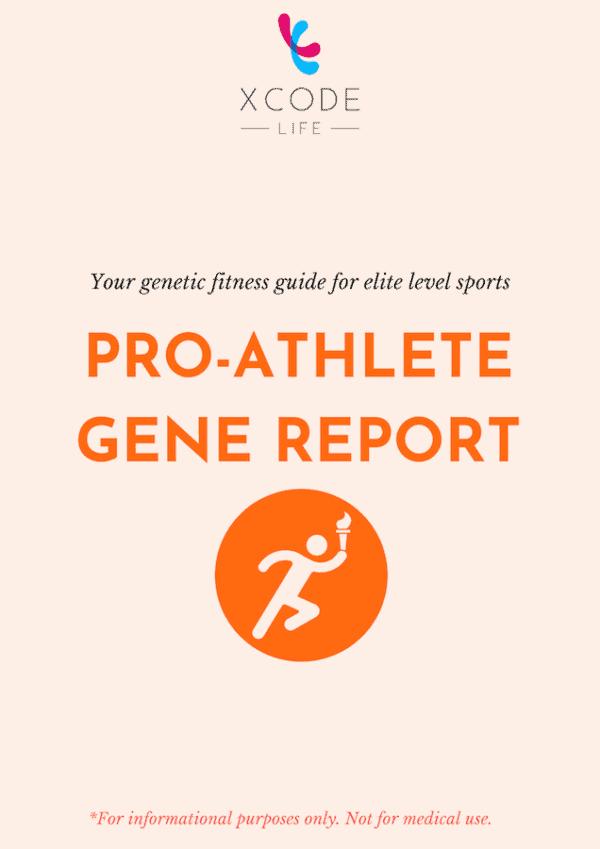 Xcode Life pro-athlete gene report